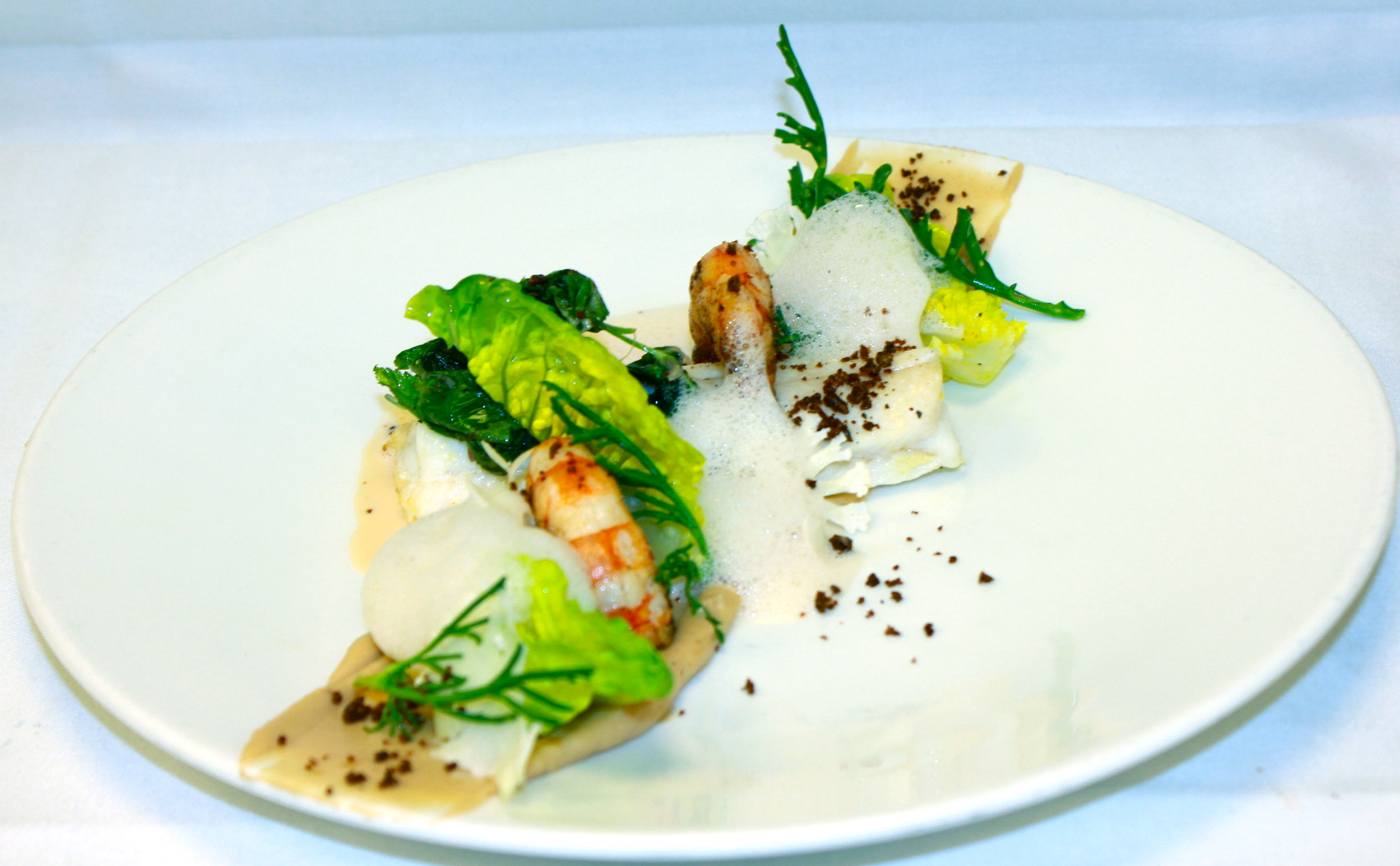 Bake lemon sole 140g served with fry prawns 2 x 25g stk for How to cook sole fish